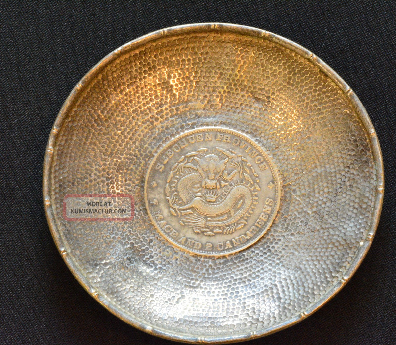 1901 1908 China Szechuan Silver Dollar Dragon Coin On A