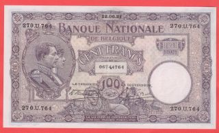 100 Francs 1921 Xf,  Very Beautifull Banknote photo