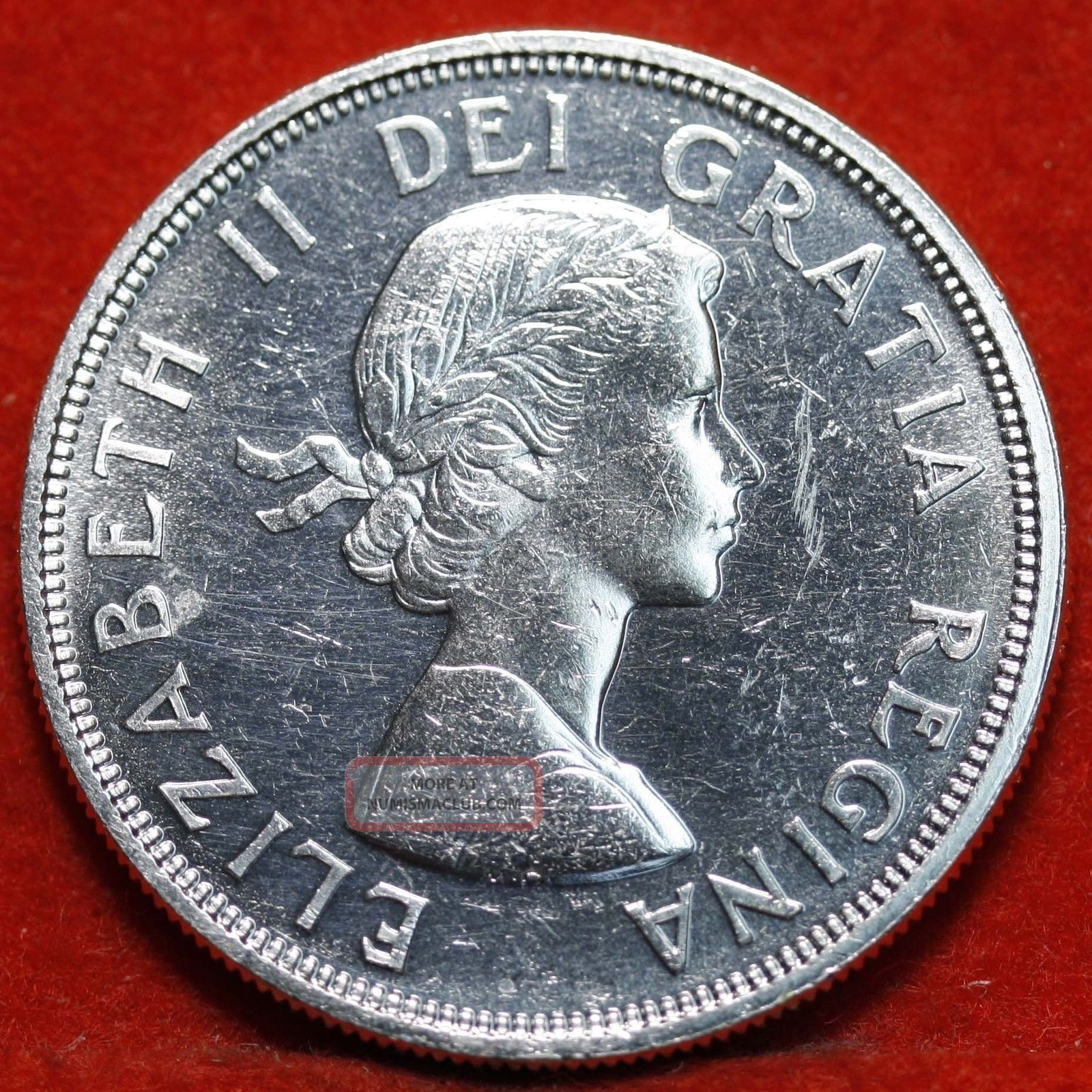 Uncirculated 1964 Canada Dollar Silver Foreign Coin S H