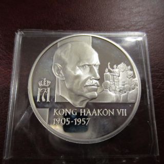 Norway Regents 1905 - 1957,  1oz Unc Silver.  925s Coin/medal Proof photo