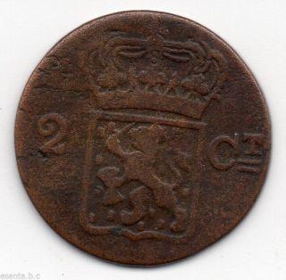 8 Netherlands East Indies 2 Cent (duit) 1834v Sumatra photo