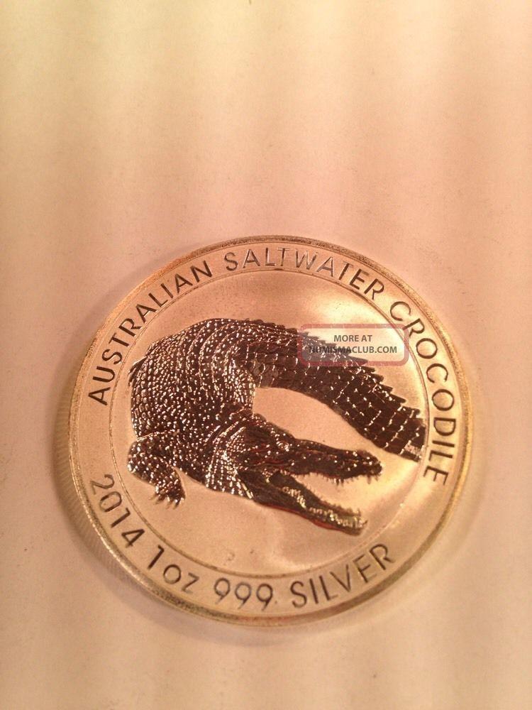 Bu 2014 1 Oz Australian Saltwater Crocodile 999 Silver