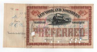 1887 York And Northern Railway Company Stock Certificate photo