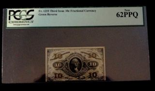 Historic Civil War - U.  S.  Minted Fractional Currency.  Pcgs Uncirc.  62 - Ppq. photo