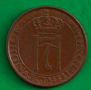 Norway Kingdom 5 Ore 1941 Vintage Ww2 Era Norwegian Coin photo
