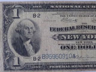 1 Dollar 1918 Federal Reserve York photo