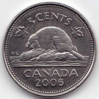 2006l Canada 5c Coin - Short Raised Line From G In K.  G To Log,  Should Be A Variety photo