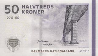 Denmark 50 Kroner P - 65 Banknote Uncirculated photo