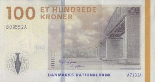 Denmark 100 Kroner P - 66 Banknote Uncirculated photo
