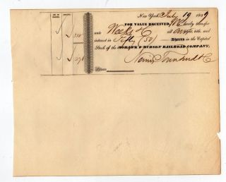 1839 Mohawk And Hudson Railroad Company Stock Transfer photo