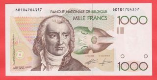 1000 Francs Gretry Uncirculated Highest Quality Banknote photo