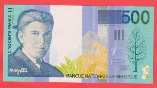 500 Francs Margritte Gem Unc Beautifull Colors Highest Quality Banknote photo
