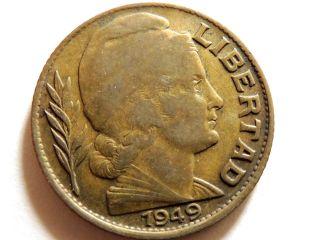 1949 Argentinian Twenty (20) Centavos Coin photo