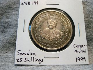 Somalia 25 Shillings 1999 100th Birthday British Queen Mother Km 141 photo