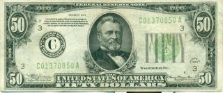 Us Federal Reserve 50 Dollars Series 1934 photo