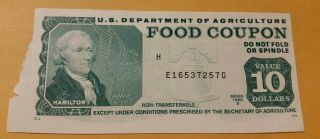 Usda Food Stamp Food Coupon Series 1980 B $10 Note Crisp Real E16537257g photo