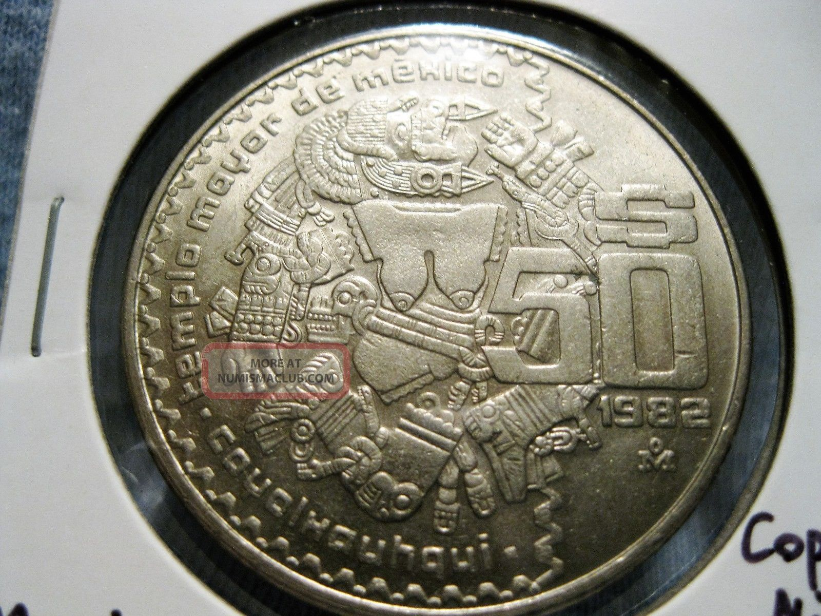 Mexico 50 Pesos 1982 Coyolxauhqui Km 490 50