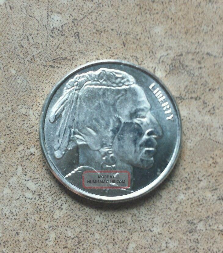 1 10th Troy Oz 999 Pure Silver Buffalo Indian Nickel