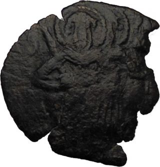 Alexius I Comnenus 1081 - 1118ad Rare Byzantine Coin Christ Manus Dei I30686 photo