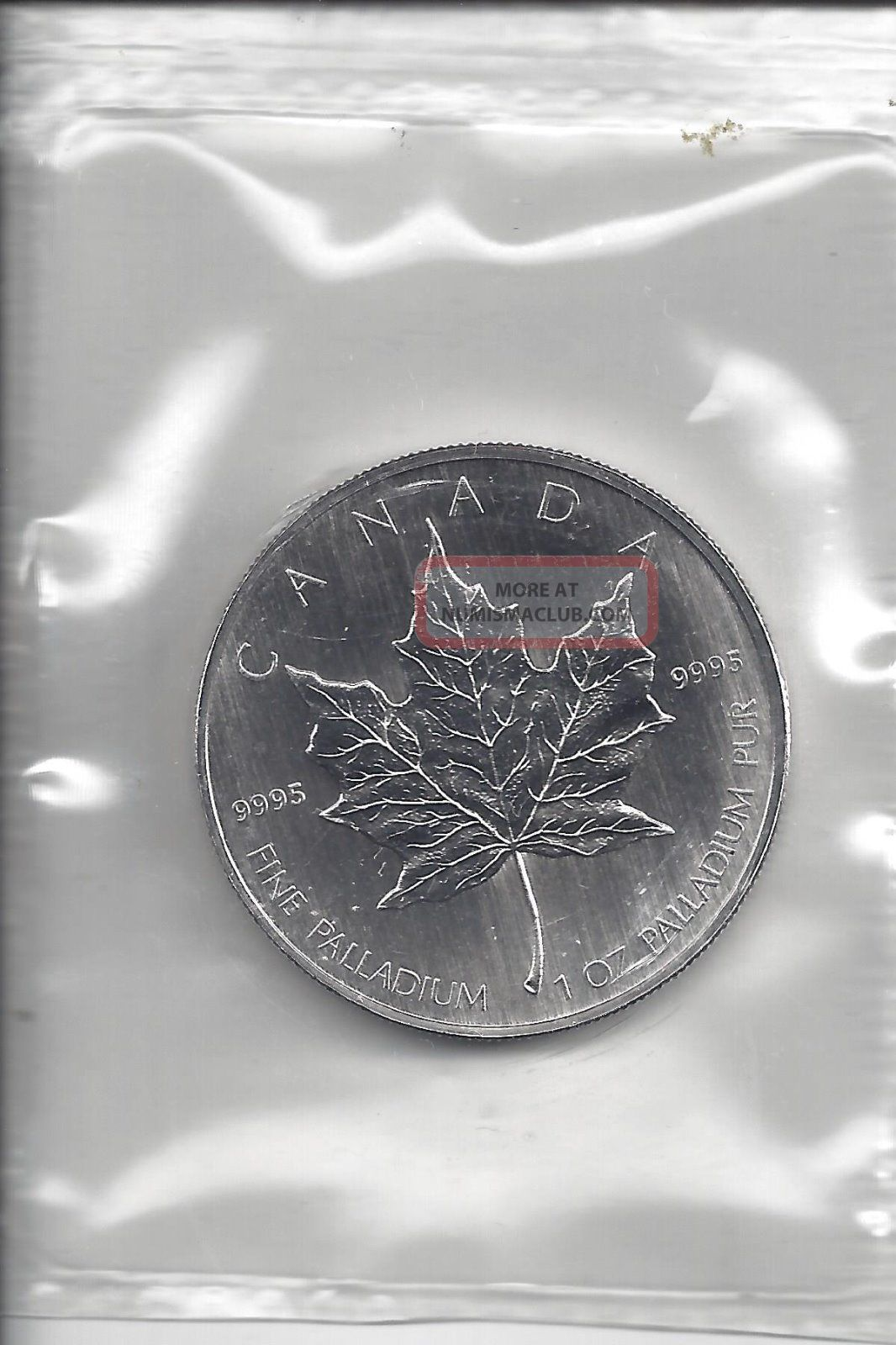 2006 (1oz) Palladium Canadian Maple Leaf - - Bullion photo