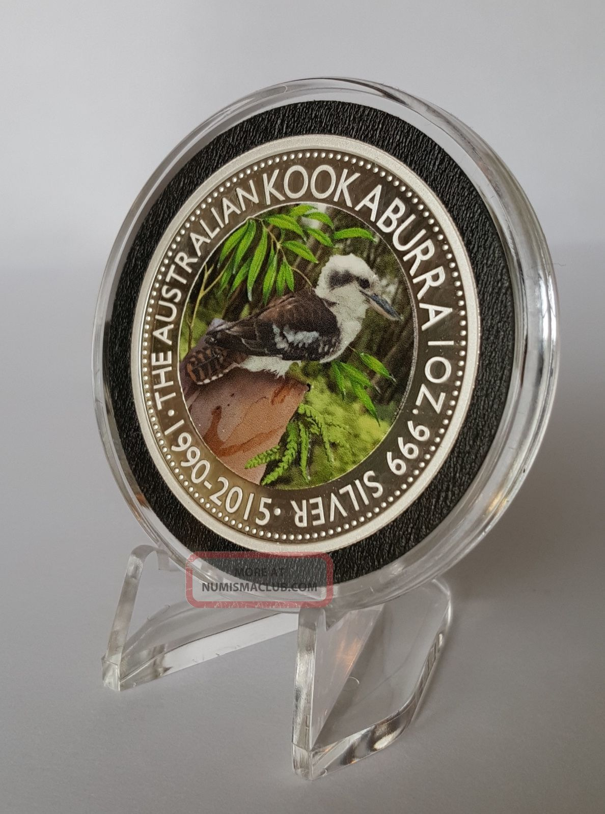 2015 1oz Silver Australian Kookaburra Forest Coin With