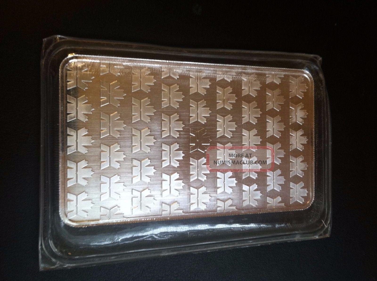 10 Oz Royal Canadian Rcm 9999 Fine Silver Bar