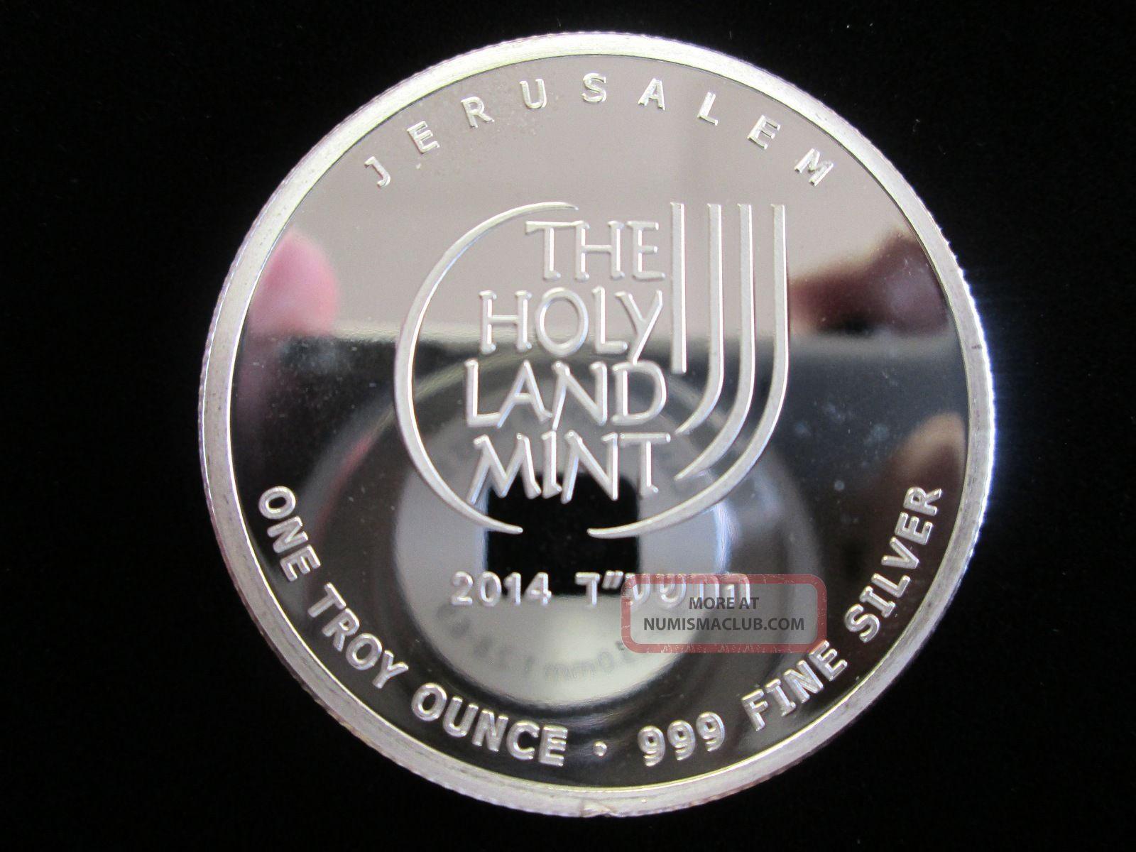 2014 Bu 1 Oz 999 Silver Quot Dove Of Peace Quot Round Bullion