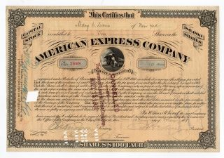 James C Fargo - American Express Co Stock Certificate photo
