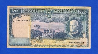 Angola 1000 Escudos 1970 Pic98 Very Fine (with Tear) photo
