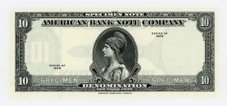 Series 1929 $10 American Bank Note Company