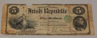 1866 Ireland $5 National Promissory Note - Pick S101 photo