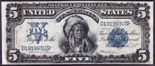 Us 1899 $5 Chief Silver Certificate Fr 273 Vf - Xf (- 303) photo