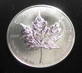 2005 1 Oz Palladium Canadian Maple Leaf (inaugural Issue) photo