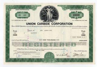 Union Carbide Corporation Stock Certificate photo