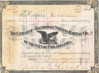 The Catherine And Bainbridge Streets Ry Co Stock March 13,  1905 Philadelphia photo