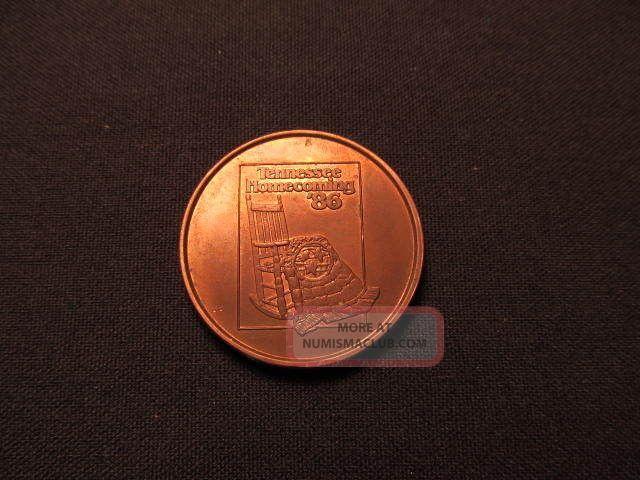 1986 Tennessee Homecoming Token - Davy Crockett Birthplace Tn Coin Exonumia photo