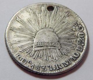 1837 Do Mexico Silver 8 Reales Coin -.  7859 Troy Oz Asw photo
