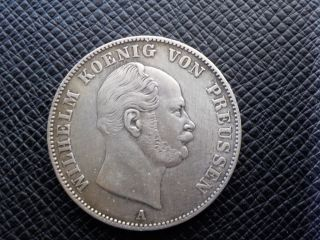 1861 - A German States: Silver Prussia 1 Thaler - Xf photo