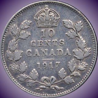 1917 Canada 10 Cent Silver Coin (2.  32 Grams.  925 Silver) (no Tax) photo