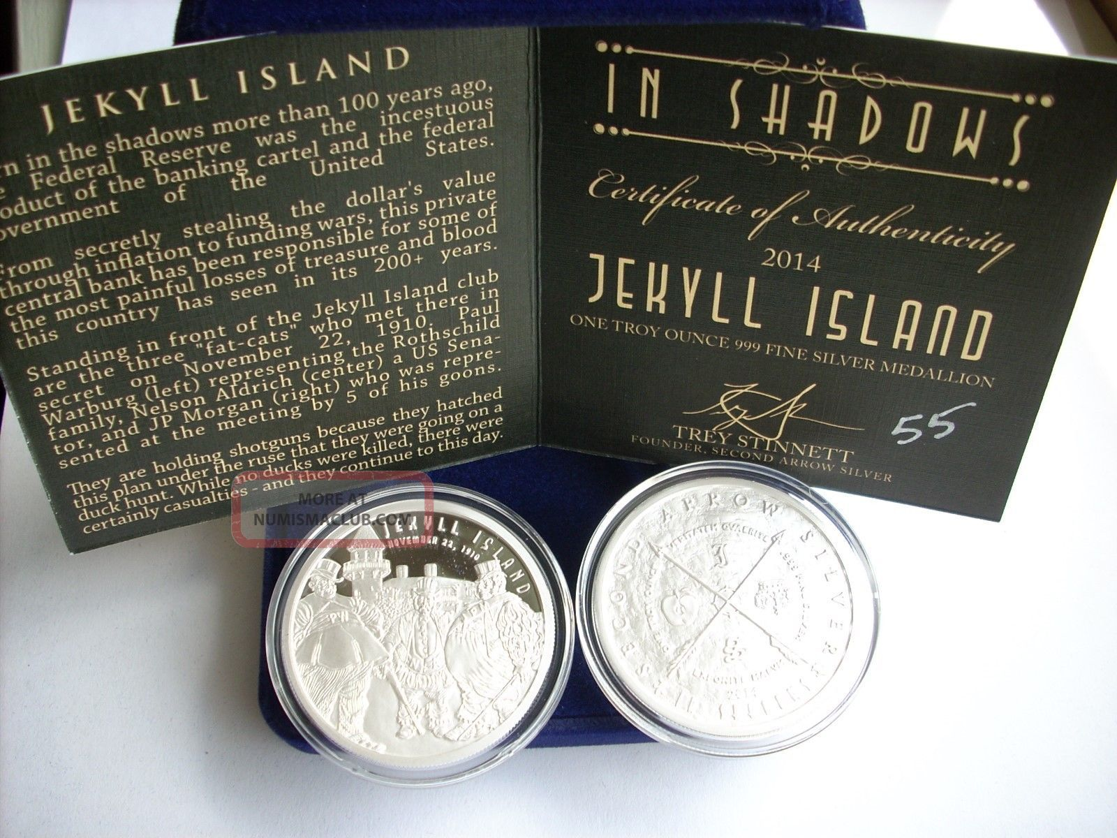 1 Oz Silver Coin Proof Jekyll Island Silver Second Arrow