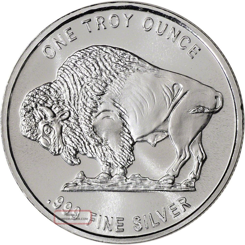 1 Buffalo Indian 1 Oz 999 Fine Silver Coin One Troy