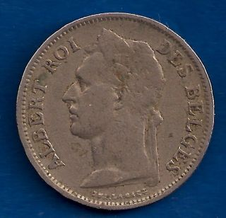 Belgian Congo 50 Centimes 1926 Belgium Colony Africa Coin French Legend photo