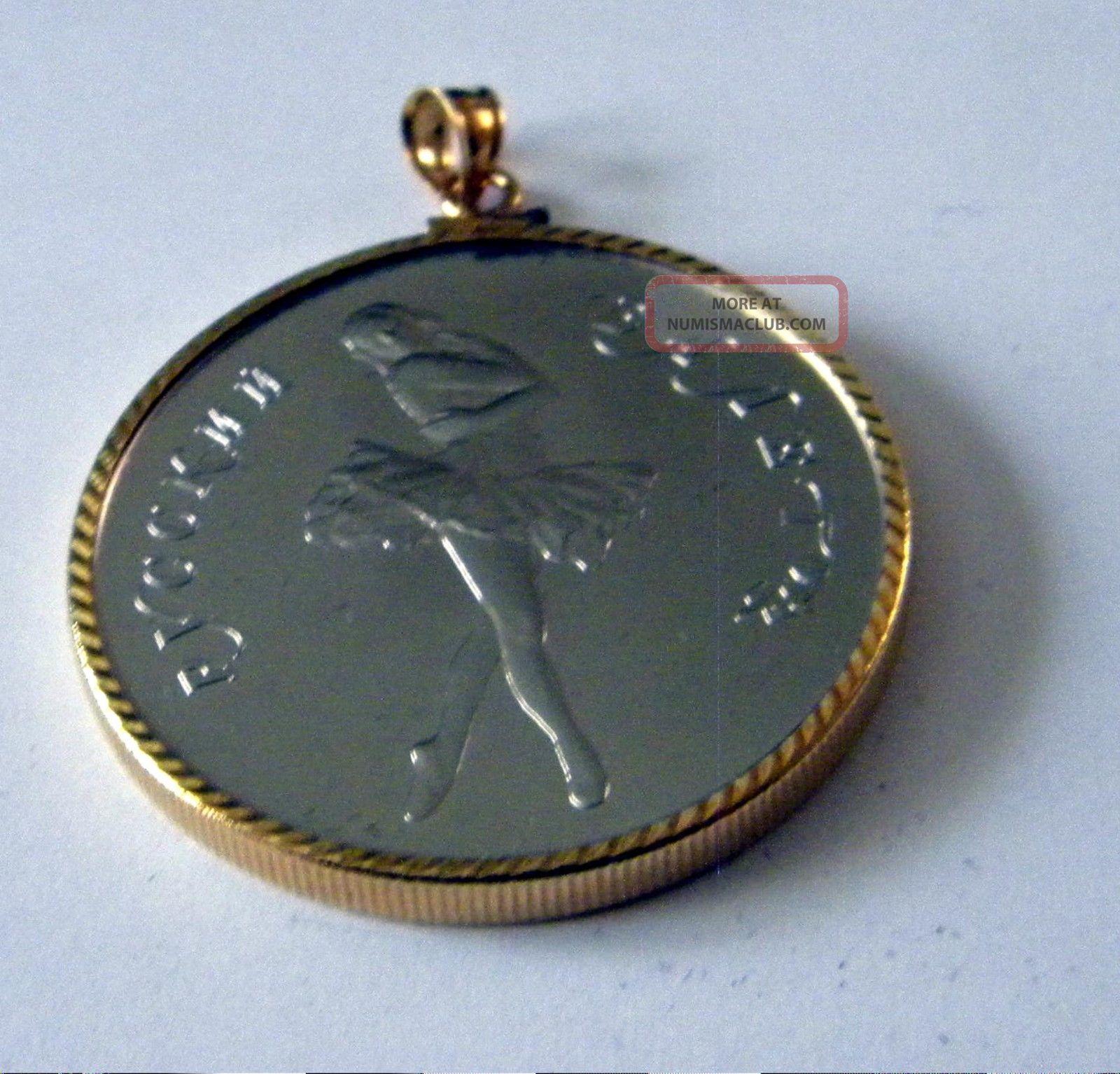 1989 Russian 25 Rubles Palladium 1 Oz Ballerina Coin 14k
