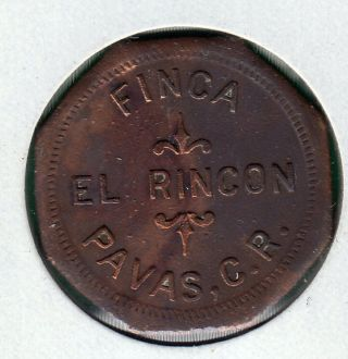 Costa Rica Coffee Token Finca El Rincon Ii Ernesto Rohrmoser 1870 ' S photo