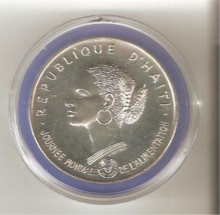 1981 Haiti.  925 Silver 50 Gourdes Coin photo