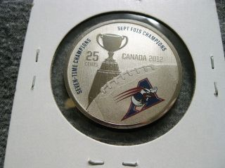 Canada 25 Cents 2012 Montreal Alouettes Cfl Canadian Football Grey Cup Km 1317 photo