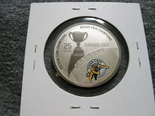 Canada 25 Cents 2012 Hamilton Tiger - Cats Cfl Canadian Football Grey Cup Km 1316 photo