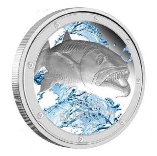 2015 Oceans Predators / Great Barracuda - 1 Oz Silver Proof Coin photo