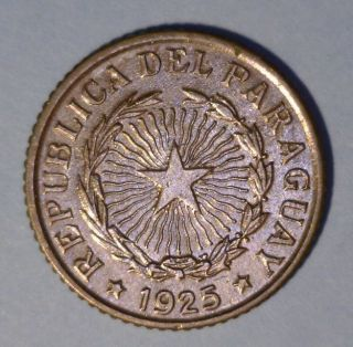 Paraguay 50 Centavos 1925 Uncirculated Coin photo