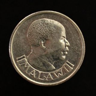 Malawi 5 Tambala.  Km9.  2a.  Ef.  Africa Coin.  Birds.  Heads Of State. photo